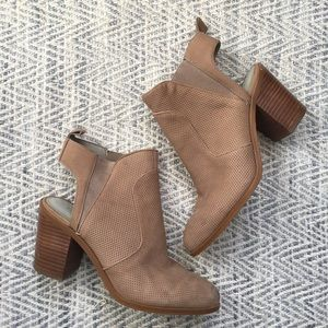 1.STATE Leban Leather Chunky Heel Cutout Bootie